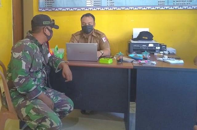 Babinsa Kampung Bumi Dipasena Makmur: Penggunaan Masker Menjadi Syarat Mutlak Yang Mesti Dipatuhi Seluruh Masyarakat