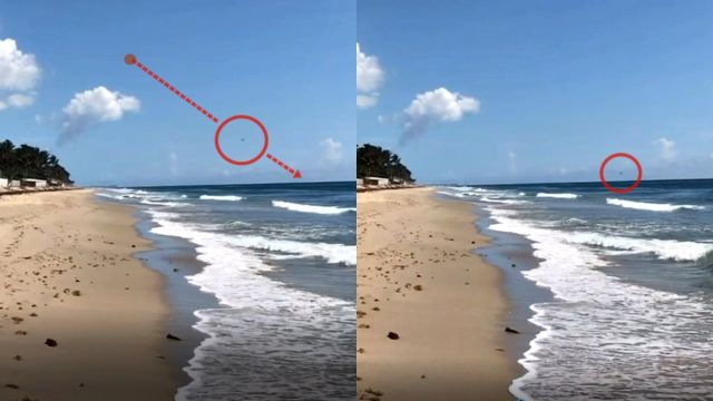 Objeto de alta velocidad se dispara hacia el océano cerca de la playa Lantana, Florida, 15/6/2020