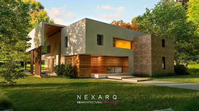 arquitectura 3d render exteriores