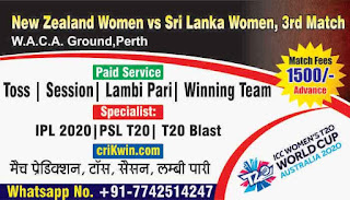 Who will win Today 3rd match NZW vs SLW ICC t20 world cup 2020