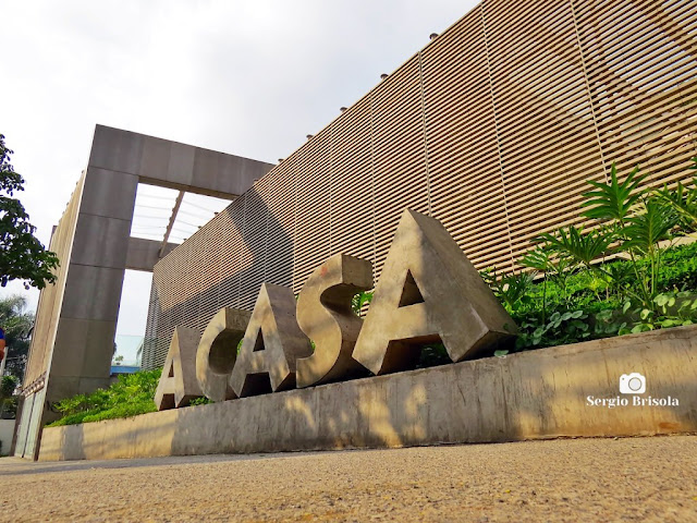 Perspectiva lateral do espaço A CASA - Museu do Objeto Brasileiro - Pinheiros - São Paulo