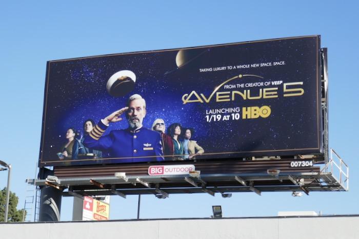 Avenue 5 series launch billboard
