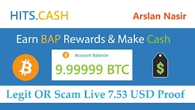 Hits.cash Earn Bap Rewards & Make Money Legit OR Scam 7.53 Usd Live Withdrawal Payment Proof Hindi