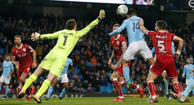 """Video Man City - Bristol City: Lao lực với """"ngựa ô"""", định đoạt phút bù giờ 2"""