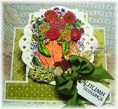 Our Daily Bread Designs, Autumn Blessings, Fall Flower Pumpkin, ODBD Custom Pumpkin with Flowers die,  ODBD Custom Recipe and Tags die, Chris Olsen