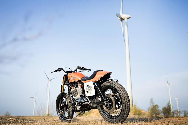 Harley Davidson Sportster XL883 By WS-Motorradtechnik Hell Kustom