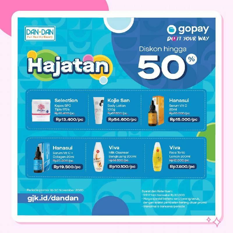 Promo DANDAN GoPay Diskon 50% Periode 16 - 30 November 2020
