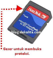 Micro SD Tidak Tampil Menu Delete