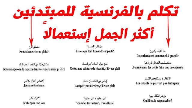 الدرس 80 تعليم اللغة الفرنسية للمبتدئين وأكثر الجمل إستعمالا في الحديث بالكتابة والنطق learn french