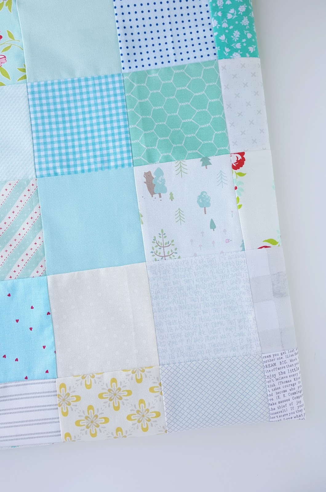 Woodberry way it was a really fun easy quilt to make i followed the layout for the tutorial by diary of a quilter but cut my squares to 4 instead and swapped the baditri Choice Image