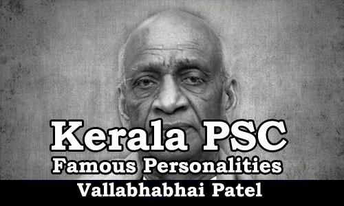 Famous Personalities - Vallabhabhai Patel (1875-1950)