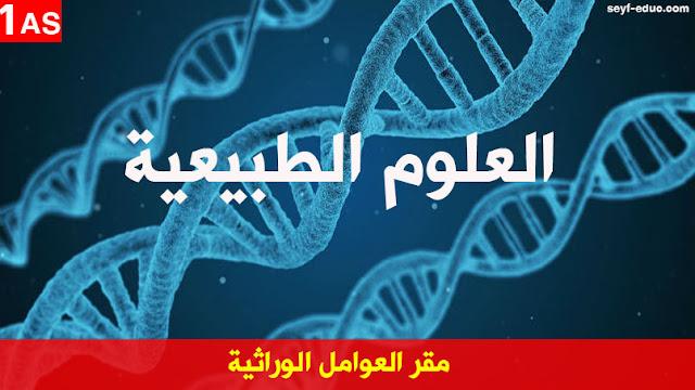 تحضير درس مقر العوامل الوراثية للسنة الاولى ثانوي