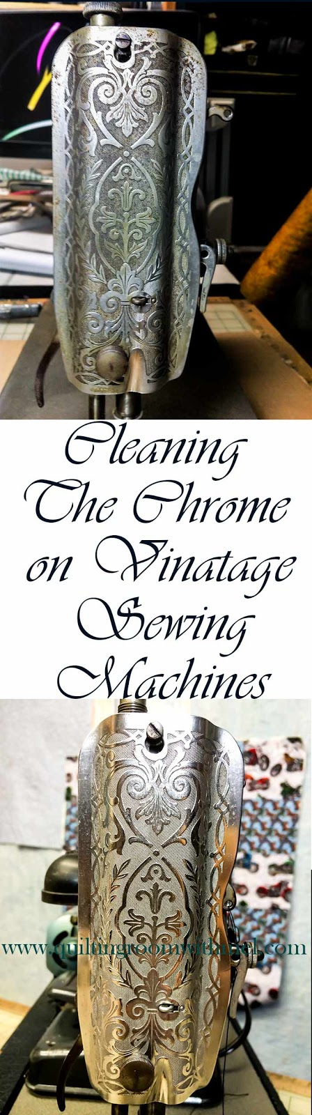 cleaning chrome on vintage sewing machines