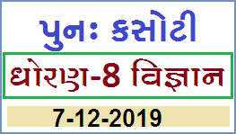 STD 8 Science Punah Kasoti Date 7.12.2019