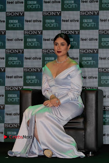 Bollywood Actress Kareena Kapoor Stills in Beautiful Silk Long Dress at Sony BBC Earth New Channel Launch  0017.jpg