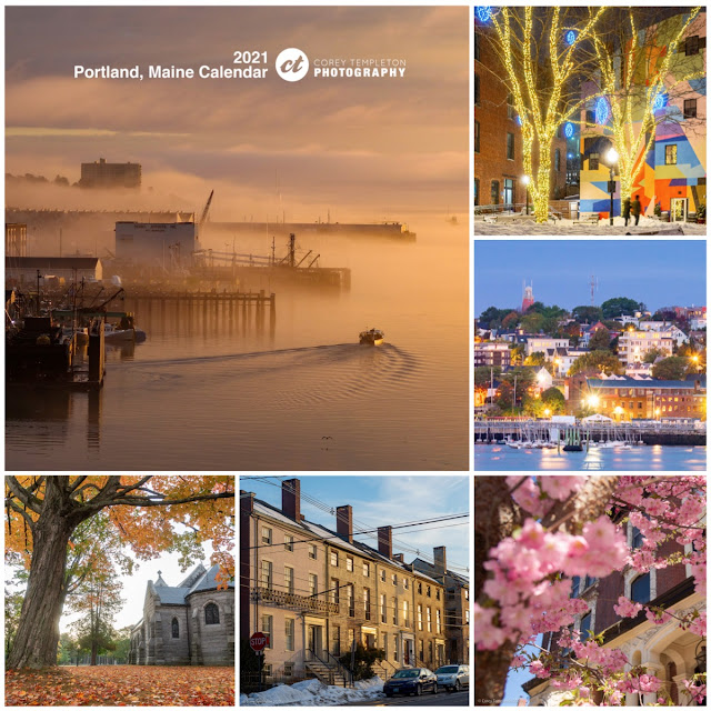 Corey Templeton Portland, Maine 2021 Calendar for sale