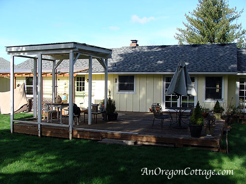 Gazebo and deck before