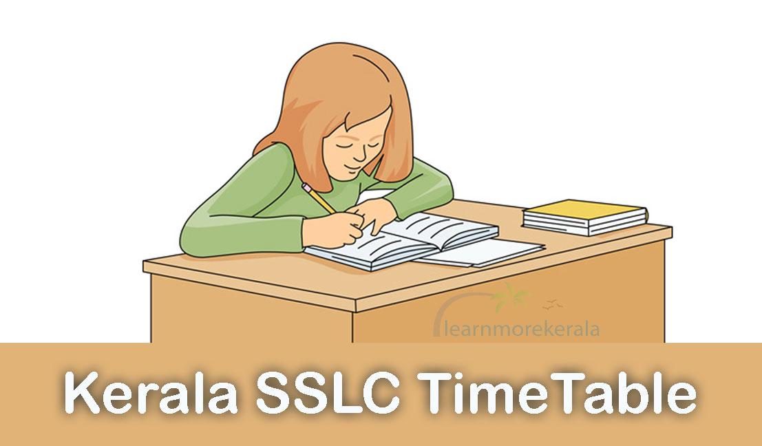 Kerala SSLC Timetable 2020