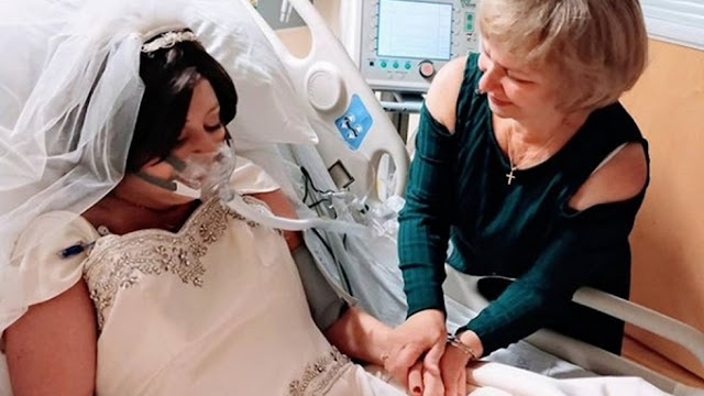 «Врачи удивлялись, как она так долго держалась». Больная раком девушка вышла замуж в больнице и скончалась через 18 часов после церемонии