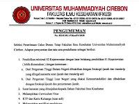 Lowongan Dosen Universitas Muhammadiyah Cirebon