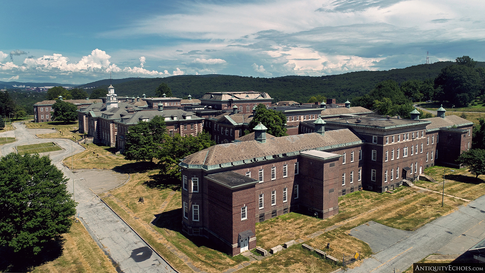Allentown State Hospital - As Seen by a Drone from the Far West Wing.