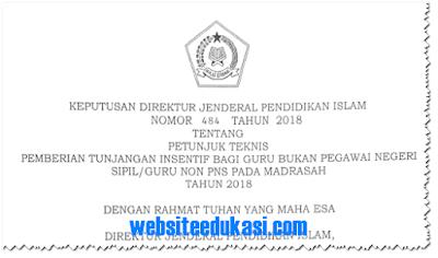 Juknis Insentif Guru Non PNS Madrasah Tahun 2018