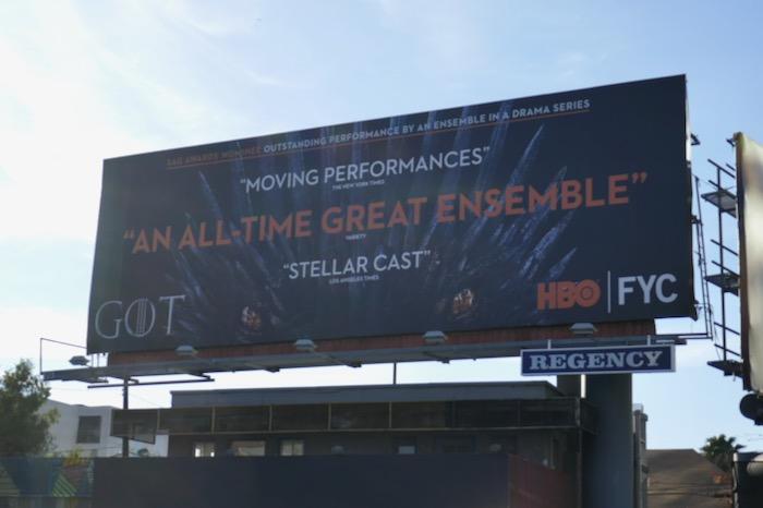Game of Thrones season 8 SAG Awards billboard