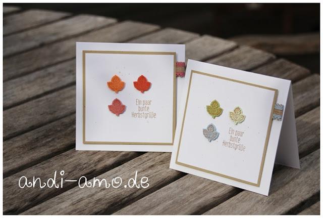 Herbstliche Grußkarten Stampin Up Für Herbst und Winter