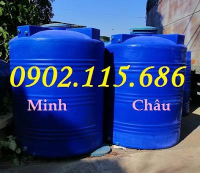 2000L%2B2 - Bồn nhựa 2000L đựng hóa chất, bồn đựng hóa chất 2000L, bồn nhựa xanh 2000L đứng,