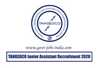 TANGEDCO Junior Assistant Recruitment 2020