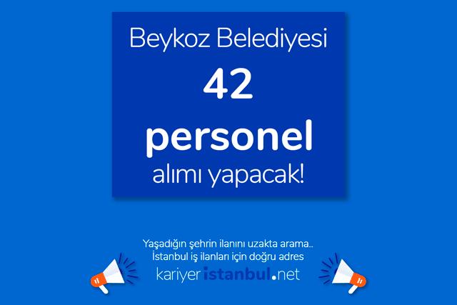 Beykoz Belediyesi, büro personeli, şoför, ziraat ve harita mühendisi, temizlik personeli, veteriner, tekniker alımı yapacak. Detaylar kariyeristanbul.net'te!