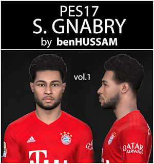 PES 2017 Faces Serge Gnabry by BenHussam