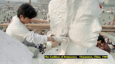 The Goddess of Democracy, Tienanmen, China. 1989