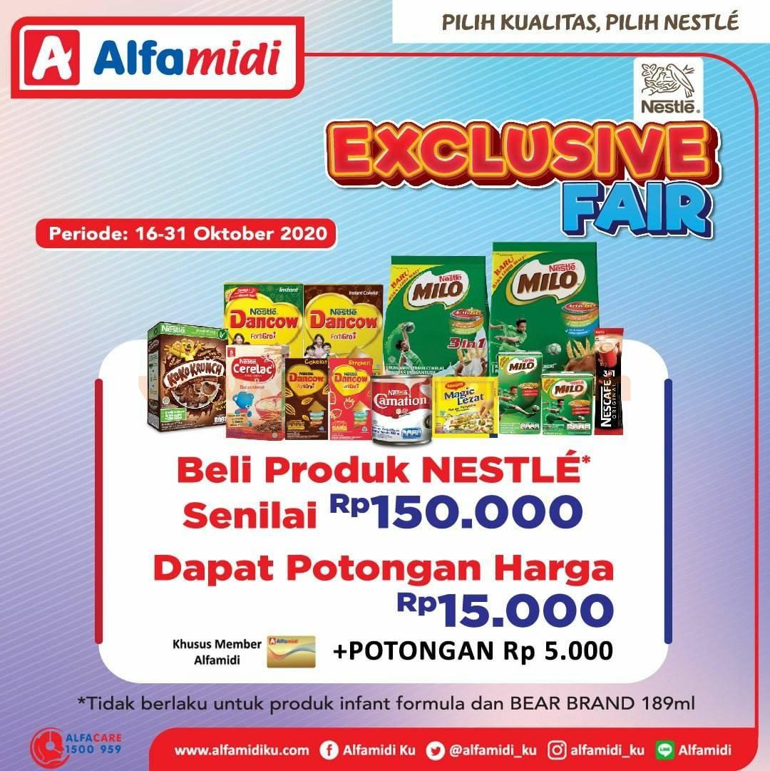 Alfamidi Nestle Exclusive Fair 16 - 31 Oktober 2020