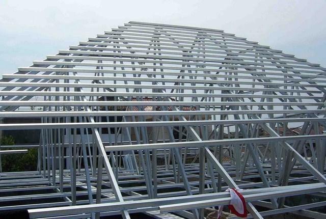 model kanopi atap baja ringan rangka / bentuk limas - ...