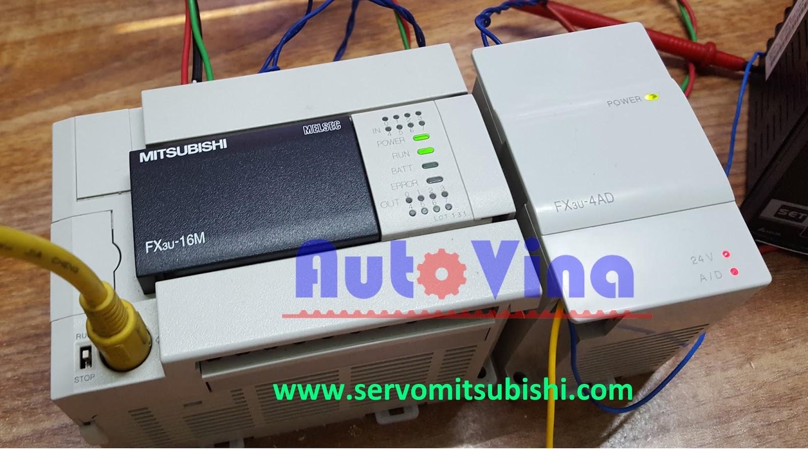 Module chuyển đối tín hiệu analog FX3U-4AD sang tín hiệu số