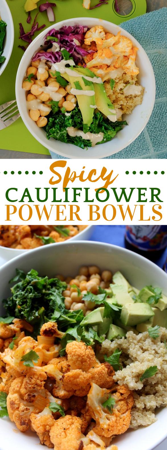 Spicy Cauliflower Power Bowl #vegetarian #glutenfree
