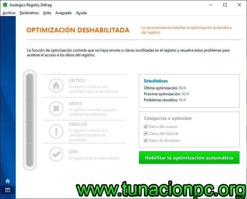 Descargar Auslogics Registry Defrag Full Español