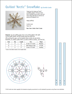Quilling Snowflake Grid Pattern Template Tutorial