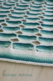 Candy Stick Blanket Crochet Pattern by Susan Carlson of Felted Button