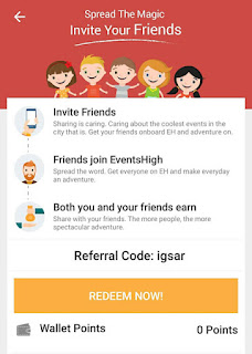 eventshigh referral code refer and earn