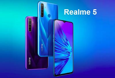 مواصفات و مميزات ريلمي Realme 5 نماذج RMX1911  هاتف/جوال/تليفون ريلمي Realme 5 -  الامكانيات و الشاشه ريلمي  OPPO Realme 5
