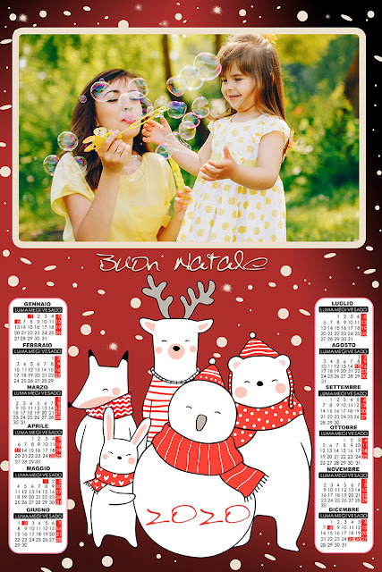 Calendario 2020 Natale