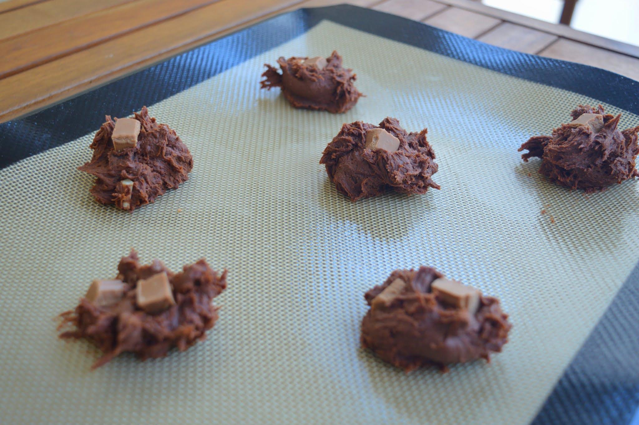 Cookies brownie avant cuisson