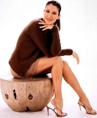 Foto de Céline Dion con el cabello recogido