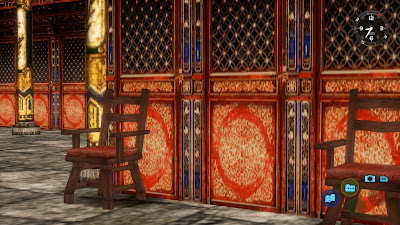 A flashback scene in Shenmue II has similar style doors as those on the temple in Shenmue III.