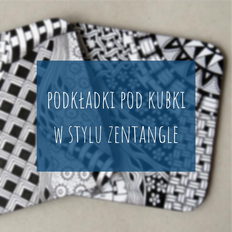 Jak zrobić proste podkładki pod kubek w stylu Zentangle?