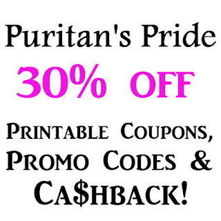 Puritan's Pride Printable Coupon February, March, April, May, June, July 2016