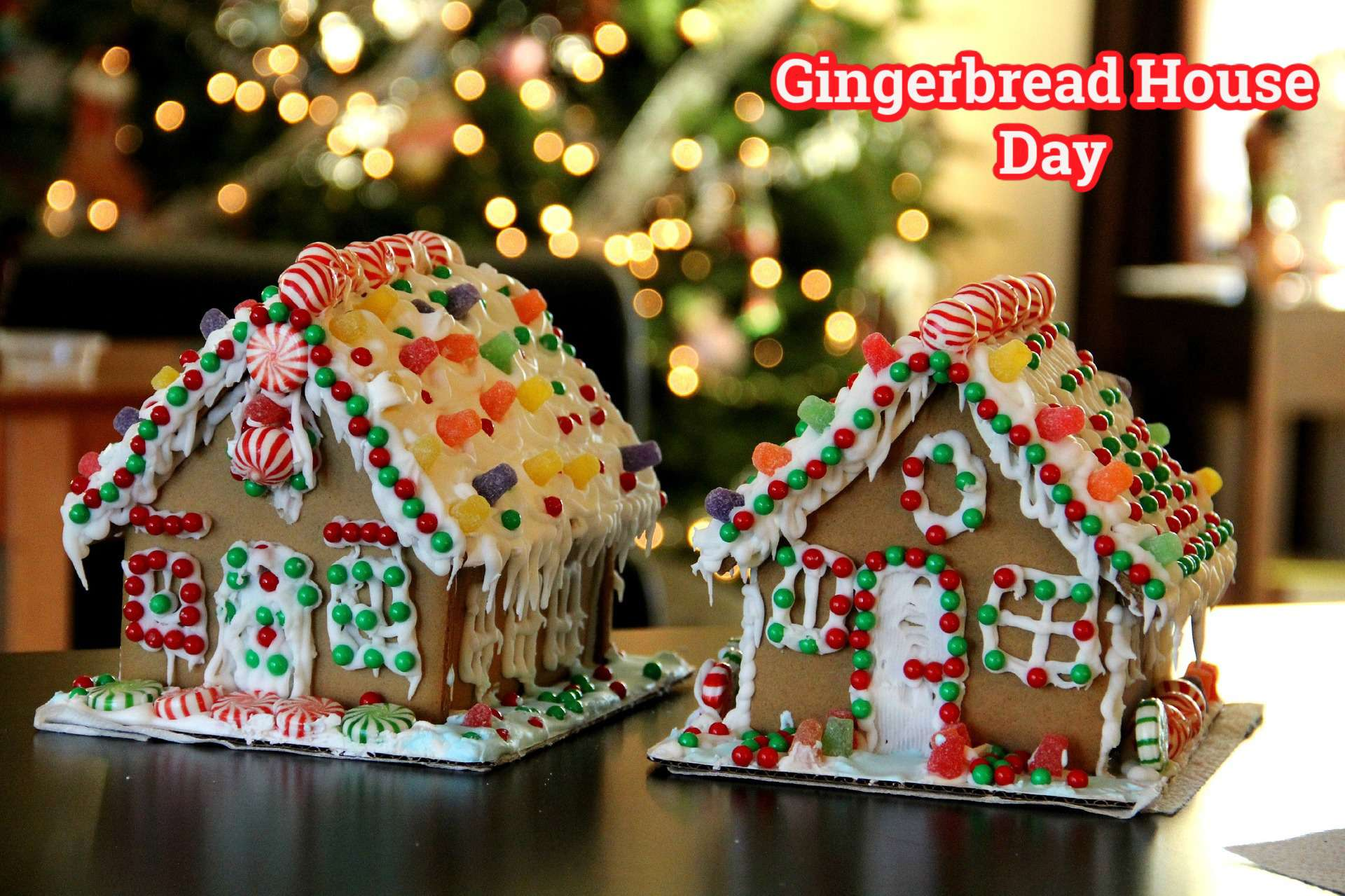 Gingerbread House Day Wishes Unique Image
