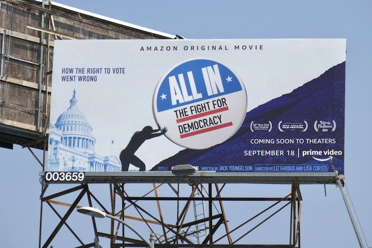 All In Fight for Democracy billboard